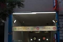 A second view of the Recoleta mall car parking entrance .Uriburu street Recoleta.