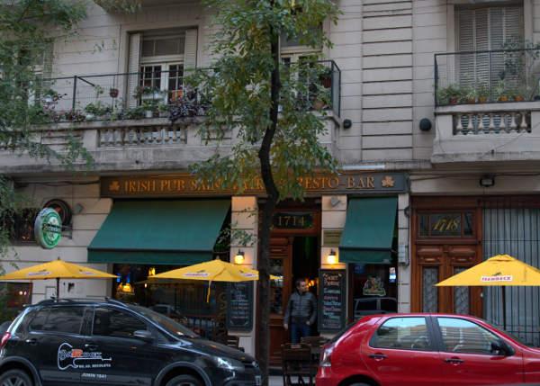 Irish Pub and Resto on Uriburu street Recoleta-buenos-aires