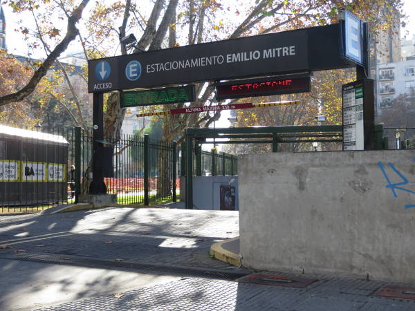 Emilio Mitre Car parking garage entrance