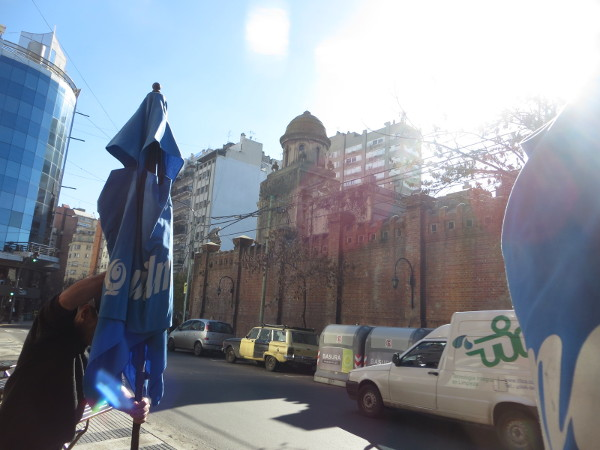 Sun on the corner of Vicente Lopez and Azcuenaga streets