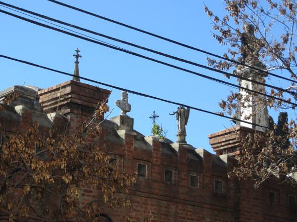 Typical Recoleta Cementery tops