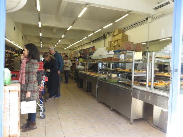 Inside the Safari supermarket.