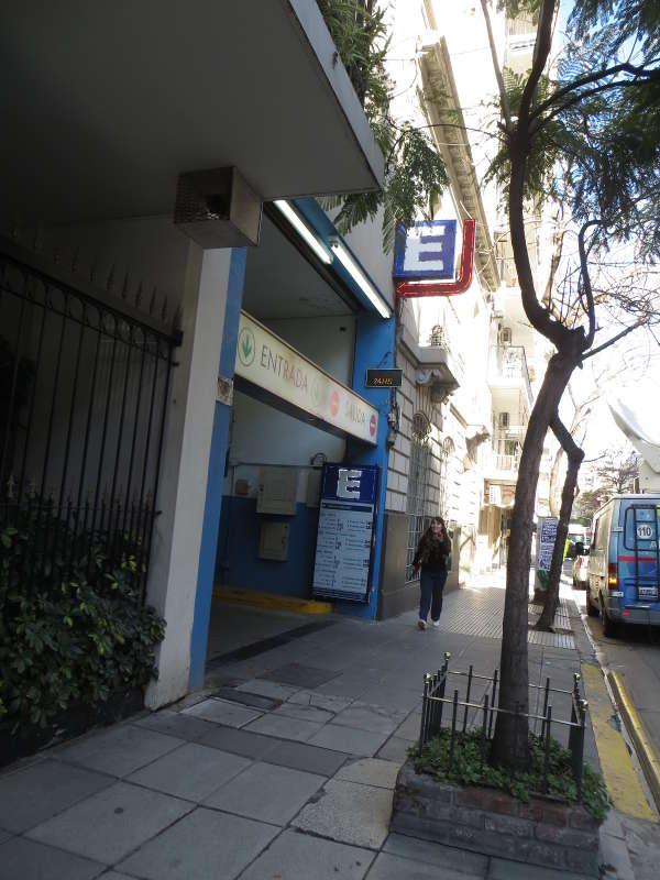 Closer look of the second car parking garage on Azcuenaga street.