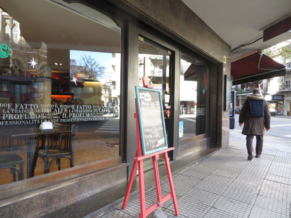 Cafe Piacere Las Heras avenue and Azcuenaga street