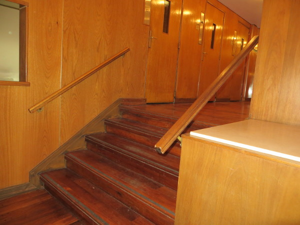 Second stairs and three elevators