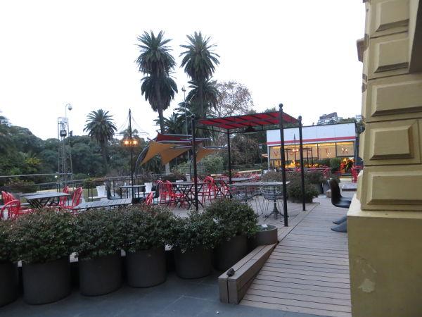 Restuarants outside the Buenos Aires Design arcade