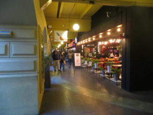 Corridor under the Buenos Aires Design arcade