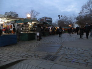 Plaza Francia flea market by night, Recoleta