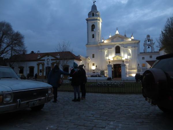 Pilar Church iluminated at night
