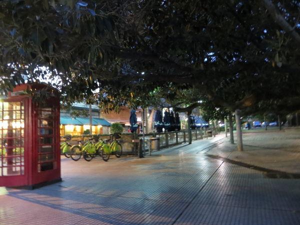 Evening by the La Biela bar Recoleta