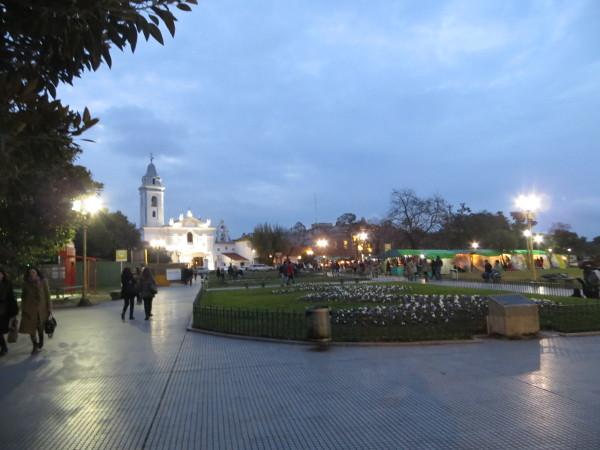 Nuestra Señora del Pilar Church by night
