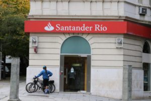 Santander Bank just two blocks away