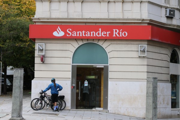 Santander Bank just two blocks away
