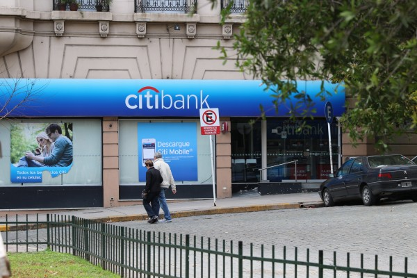 Citibank about two blocks away