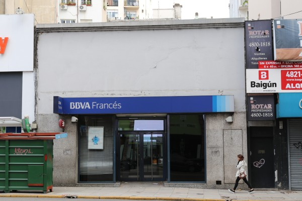 BBVA Bank two blocks away