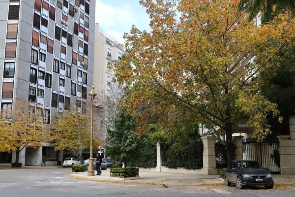 "Buildings around Gelly y Obes plaza in ""La Isla"""