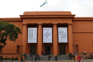 Entrance to the Museo Nacional de Bellas Artes - National Gallery